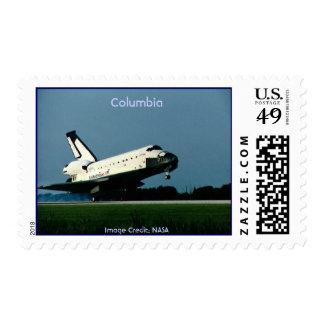 STS050(S)106, Columbia, Image Credit: NASA Postage