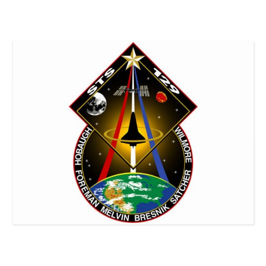 sts129 SPACE SHUTTLE Postcard