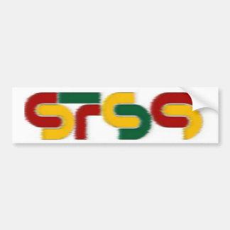 sts9 rasta car bumper sticker