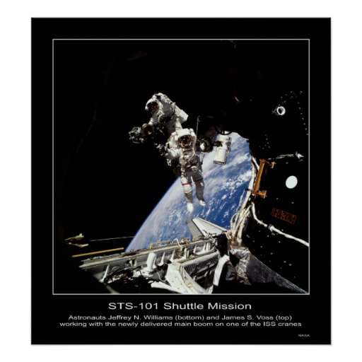 STS-101 misión en la que participa un trasbordador Poster
