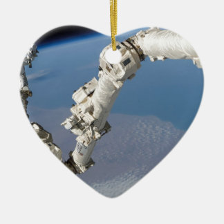 STS-114_Steve_Robinson_on_Canadarm2.jpg Ceramic Ornament