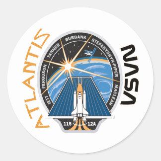 STS 115 Atlantis Classic Round Sticker