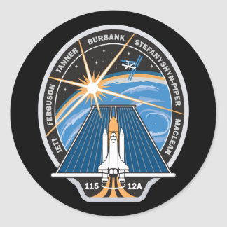 STS 115 Mission Patch Classic Round Sticker