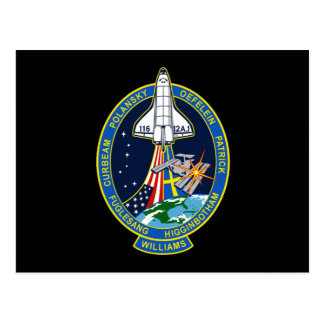 STS 116 Mission Patch Postcard
