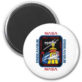 STS 118 Endeavour 2 Inch Round Magnet