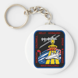 STS 118 Mission Patch Basic Round Button Keychain