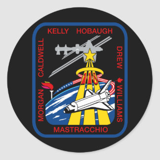 STS 118 Mission Patch Classic Round Sticker