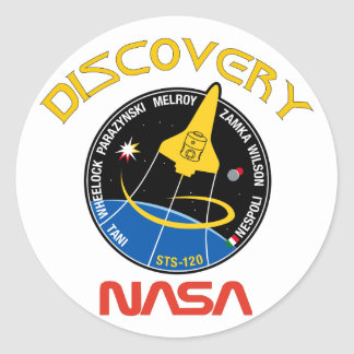 STS 120 Discovery Classic Round Sticker