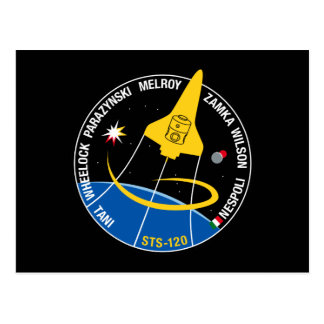 STS 120 Mission Patch Postcard