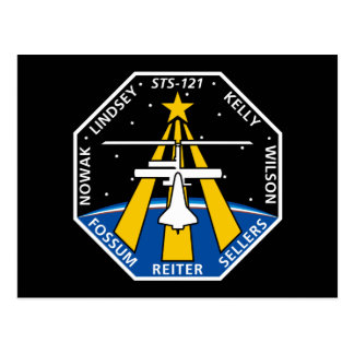 STS 121 Mission Patch Postcard