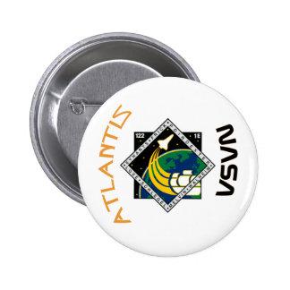 STS 122 Atlantis Pinback Buttons
