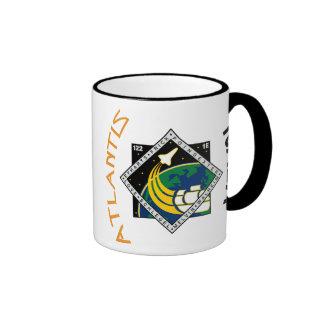 STS 122 Atlantis Ringer Coffee Mug