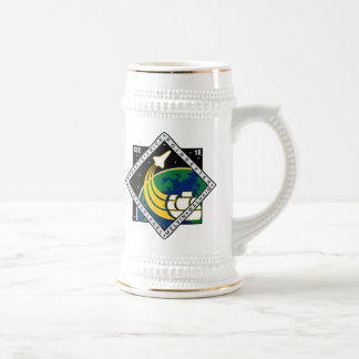 STS 122 Mission Patch 18 Oz Beer Stein