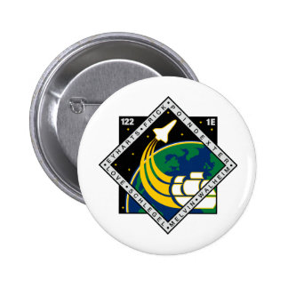 STS 122 Mission Patch Pinback Button