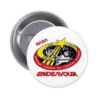 STS 123 Endeavour Pinback Buttons