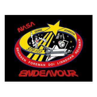 STS 123 Endeavour Postcard