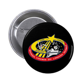 STS 123 Mission Patch Pinback Button