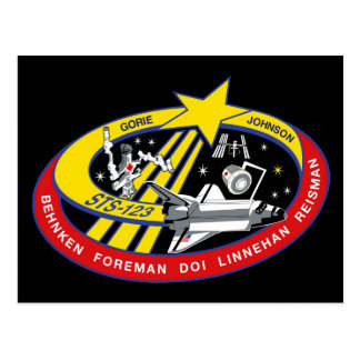 STS 123 Mission Patch Post Card