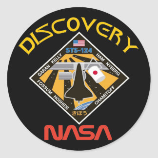 STS 124 Discovery Classic Round Sticker