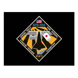 STS 124 Mission Patch Postcard