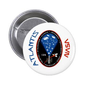 STS 125 Atlantis Pinback Button