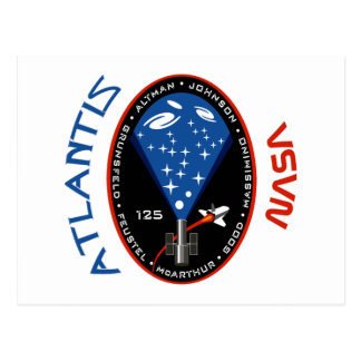 STS 125 Atlantis Postcard