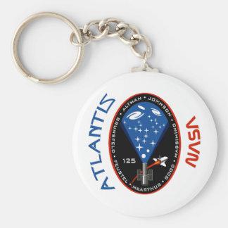 STS 125 la Atlántida Llavero Redondo Tipo Pin
