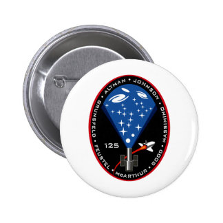 STS 125 Mission Patch Pinback Button