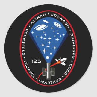 STS 125 Mission Patch Classic Round Sticker