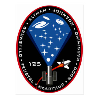 STS 125 Mission Patch Postcard