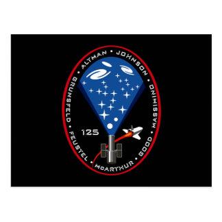 STS 125 Mission Patch Postcard