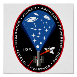 STS 125 Mission Patch Poster