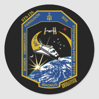 STS 126 Endeavour Classic Round Sticker