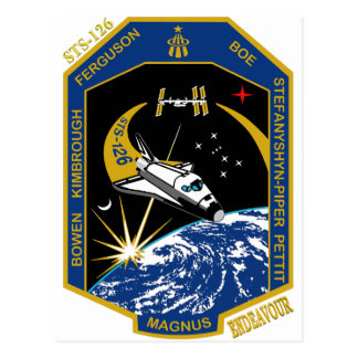 STS 126 Endeavour Post Card