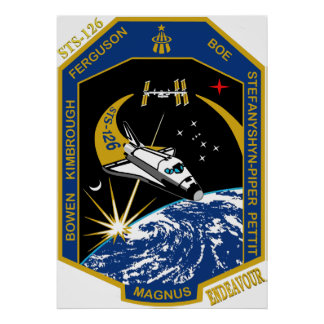STS 126 Endeavour Poster