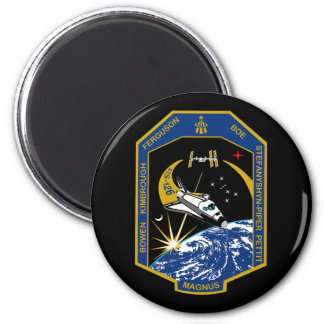 STS 126 Mission Patch 2 Inch Round Magnet