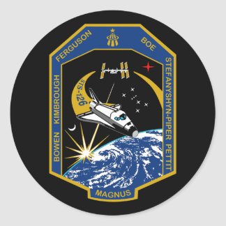 STS 126 Mission Patch Classic Round Sticker