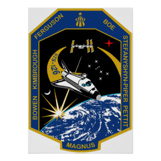 STS 126 Mission Patch Poster