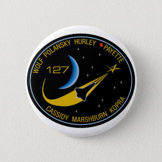 STS-127 Mission Patch Pinback Button