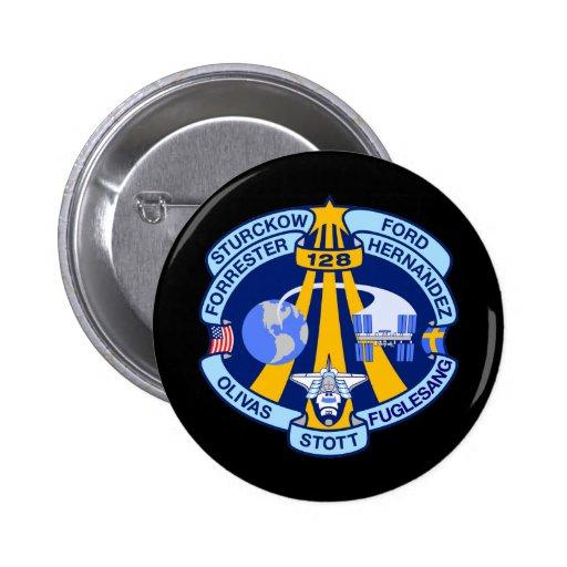 STS-128 2 INCH ROUND BUTTON