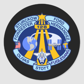STS-128 PEGATINA REDONDA