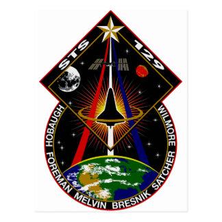 STS 129 Flight Patch Postcard