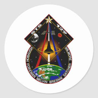 STS 129 patch Classic Round Sticker
