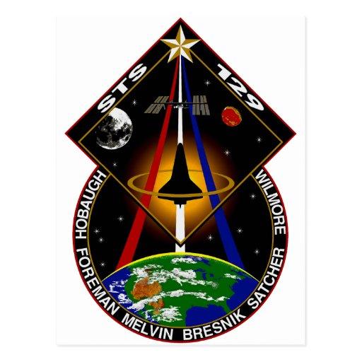 STS 129 patch Postcard