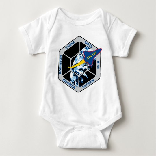STS 130 Endeavour Baby Bodysuit