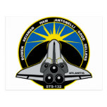STS 132 la Atlántida Tarjeta Postal