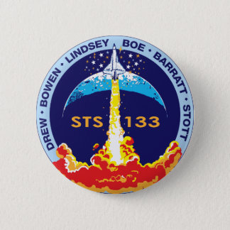 STS-133 mission patch Pinback Button