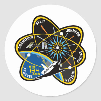 STS 134 Endeavour Classic Round Sticker