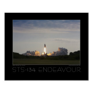 STS-134 Space Shuttle Endeavour Posters