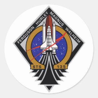 STS 135 Last Flight of Atlantis Classic Round Sticker